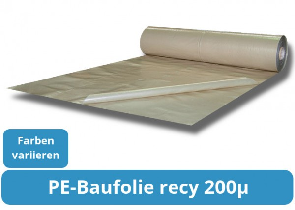PE-Baufolie recycling 200my