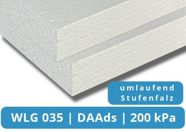 EPS 035 DAAds 200kPa Flachdachdämmplatte Stufenfalz