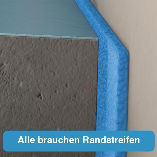estrich randstreifen estrichboden von angrenzenden bauteilen entkoppeln wir zeigen wie es. Black Bedroom Furniture Sets. Home Design Ideas