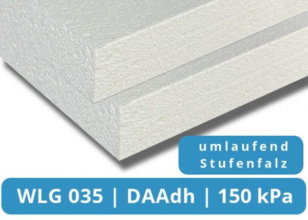 EPS 035 DAAdh 150kPa Flachdachdämmplatte Stufenfalz