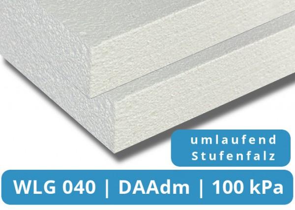 EPS 040 DAAdm 100kPa Flachdachdämmplatte Stufenfalz