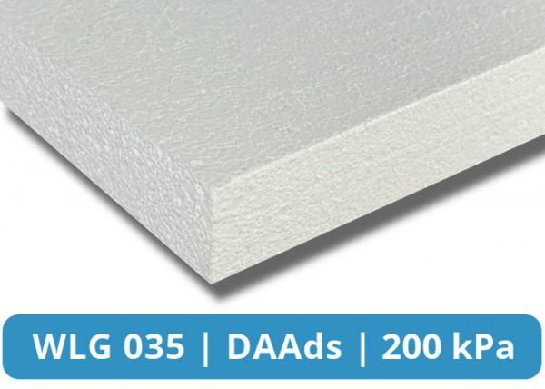 EPS 035 DAAds 200kPa Flachdachdämmplatte Glatte Kante